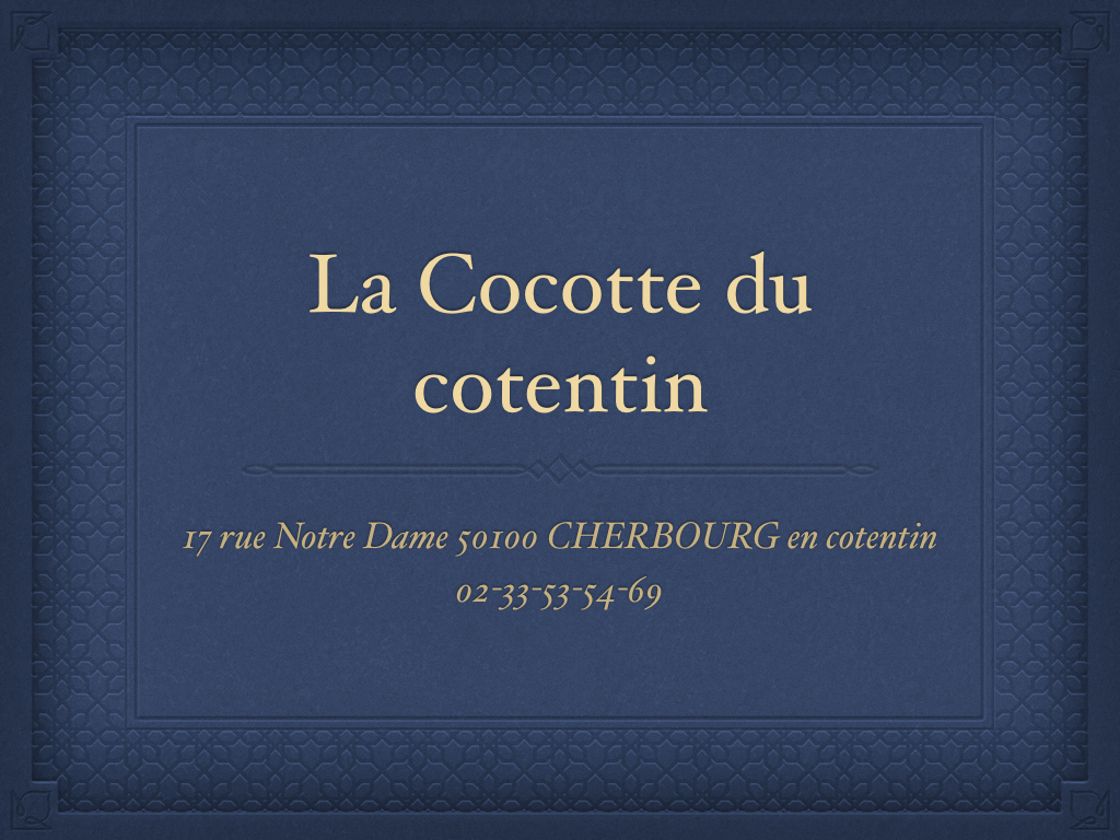 Adhérent LA COCOTTE DU COTENTIN - photo #14995