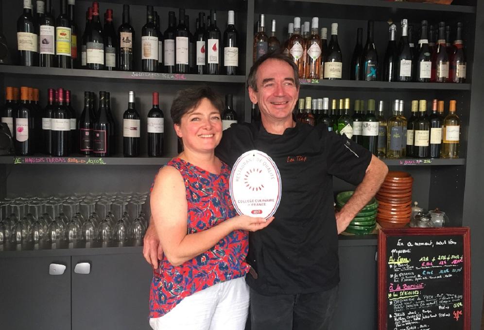 Olivier Laterrot et Anne Escoffier, Restaurant de Qualité Lou Tiap, Paris 20ème