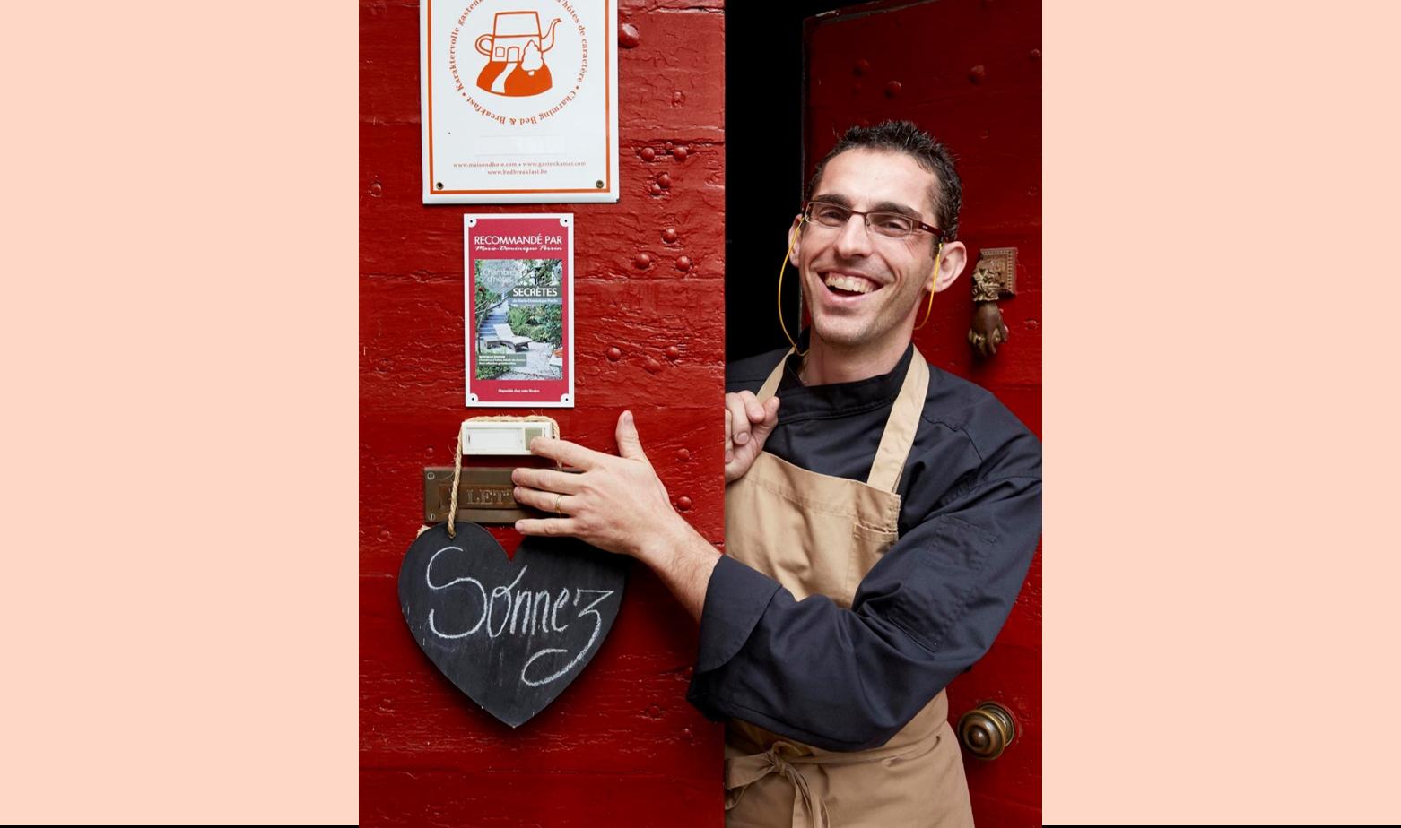 Vincent Lucas, chef du restaurant Etincelles à Sainte Sabine Born en Périgord