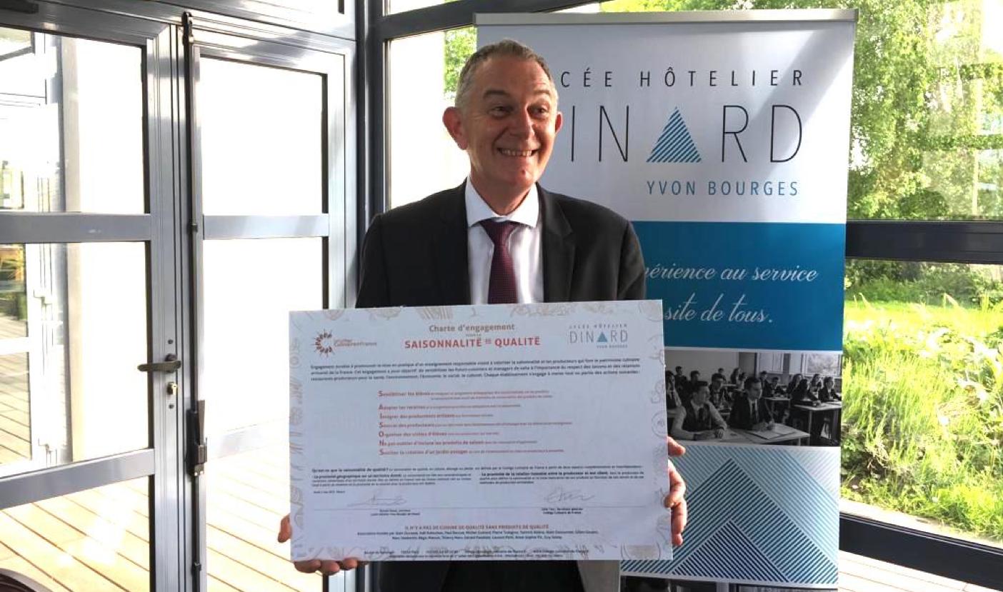 Alain Bernard, Directeur délégué aux formations du Lycée Hôtelier de Dinard